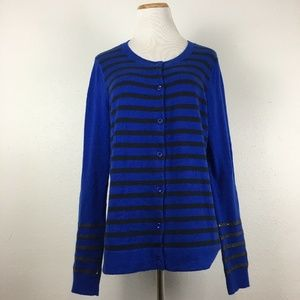Gap Striped Sequin Novelty Cardigan Sweater
